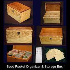 seed packet box collage