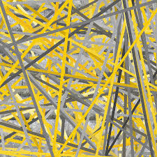 connection yellow and gray wall art by lourry legarde adorable