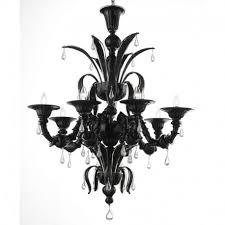 paradiso 8 lights murano chandelier color black transpa