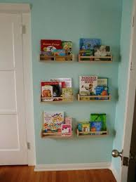 diy wooden wall bookshelf unique bookshelves for kids architecture home design o room bedroom decor with unstained on green painted modern furnitu
