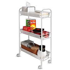 office rolling cart. Creatwo Rolling Cart 3 Tier Metal Kitchen Utility On Wheels For Kitchen/Bathroom Office R