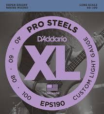<b>Струны</b> для бас-<b>гитары D'Addario</b> Prosteels <b>EPS190</b> 40-100 ...