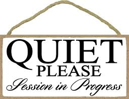 Session In Progress Door Sign White Quiet Please Session In Progress 5 X 10 Inch Hanging Door Sign For Office Salon Or Commerical Use
