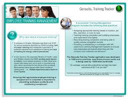 Tracker Training A Successful Training Management Program Includes The