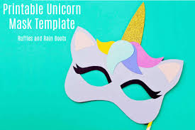 These coloring pages can be downloaded here and can entertain your kids for hours. Free Printable Unicorn Mask Coloring Page And Template