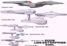 Enterprise Size Comparison Chart Ship Comparisons