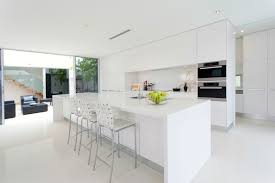 all white high gloss modern kitchen design