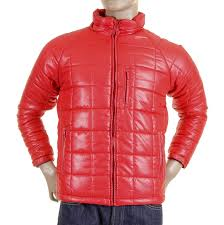 rmc martin ksohoh nylon zip up down filled rqj1088 regular fit mens quilted jacket in red