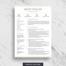 Simple Resume Templates Word Inspiration Modern Resume Template For Word Clean Resume Design Two Etsy