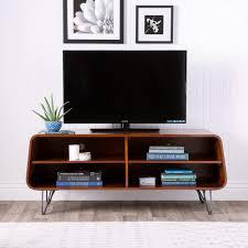 open mid century modern shelves