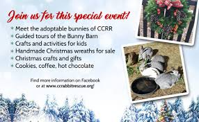 christmas open house flyer christmas open house at cottontail cottage rabbit rescue user