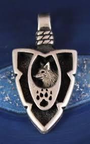 vintage sterling silver arrowhead wolf