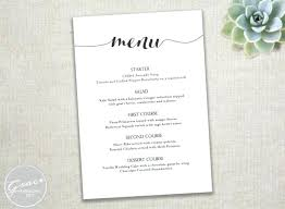 Wedding Template Microsoft Word Ms Word Menu Template Menu Templates In Word Menu Template