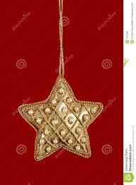 Weihnachtsstern Mit Perlen Und Gold Stockfoto Bild Von