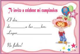 tarjetas de cumplea os para ni as invitaciones de rosita fresita gratis de cumpleaños invitaciones