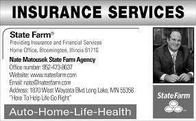 insurance services nate matousek state farm agency