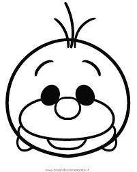Disegno Tsum Tsum Olaf Personaggio Cartone Animato Da Colorare