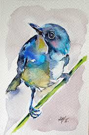 bird painting bird by kovacs anna brigitta