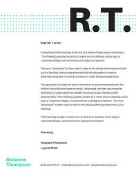 Company Letterhead Templates Cool Dots Minimalist Big Monogram Personal Letterhead Templates By Canva