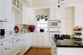 white painted cabinetsPaint Maple Kitchen Cabinets Antique White  Creative Home Designer