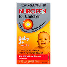 image for nurofen for children pain and fever relief strawberry baby 3 months 50ml