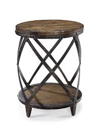 metal accent table. Amazon.com: Magnussen T1755 Pinebrook Distressed Natural Pine Wood Round Accent Table: Kitchen \u0026 Dining Metal Table