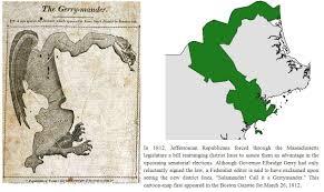 「The Gerrymander is born in Essex County, February 11, 1812」の画像検索結果