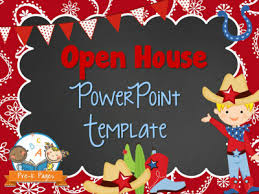 Open House Powerpoint Western Theme Open House Powerpoint Pre K Pages