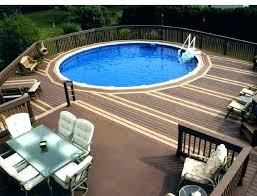 above ground pool decks. In Ground Pool Decks Above Decking Designs My Journey . G