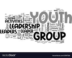 Activities Word Youth Leadership Activities Text Word Cloud Vector Image