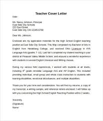 teacher cover letter example 10 free documents in pdf f e6