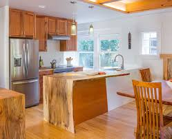 custom cabinets portland. Kitchen Remodeled With Pacific Madrone Custom Cabinets Portland Salvage Beech Tree Was Used For The Mitre Wrap Liveedge Countertop Intended