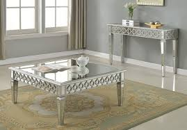 image of mirrored coffee table design ideas