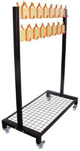 Mobile Coat Racks BS100 single rail mobile rack with mesh bag basket School 43