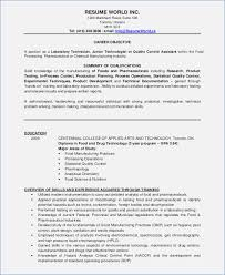Resume Template Microbiology Resume Samples Complete Collection