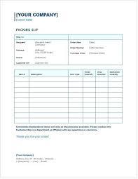 Packing Slip Template Order Form Bridgeoflochay Co