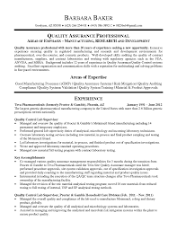 Resumes Quality Assurance Resume Entry Level Managerl Software