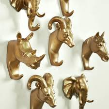 decorative wall hooks for hanging 1 creative animal decoration hook living room wall coat resin hooks home hanging clothes