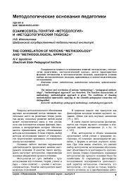 Взаимосвязь понятий Методология и Методологический подход  the correlation of notions methodology and methodological approach 1