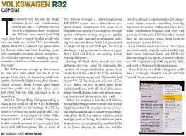 r info volkswagen r32 golf ball