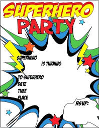 superheroes birthday party invitations superhero birthday invitations templates free lijicinu 506826f9eba6