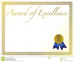 Award Of Excellence Certificate Template Award of Excellence stock vector Illustration of accomplishment 16