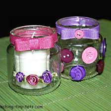 How To Decorate Candle Jars Toddler Activities Make A Pretty Candle Holder For A Votive Candle 25