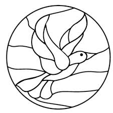 Free Printable Stained Glass Coloring Pages Glandigoartcom