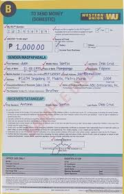 Finance How Thru Philippines – And Wealth The Money Send Template Form To Western Union Invoice