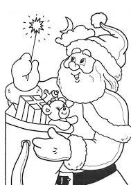 Magic Stick Santa Coloring Pages For Kids Printable | Christmas ...