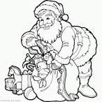 Санта раскраска для детей