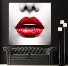 image is loading red lips modern canvas home fine wall art  on wall art black white and red with red lips modern canvas home fine wall art photo prints black white
