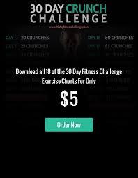 30 Day Crunch Challenge 30 Day Challenge Crunch