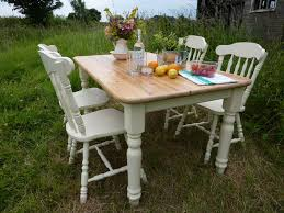 antique pine dining room chairs. antique pine farmhouse table and 4 chairs dining room